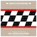 Wall Border Set Checker Flag FAST Red 12 ft x 6 in Vinyl Decal Sticker