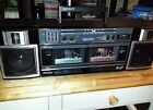 Sony Portable Boombox Vintage CFS-W360  Radio Dual Cassette Player TranSound EQ