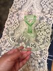 Antique Apple Green Depression Glass Platter Plate With Tray Handle