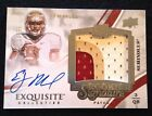 2013 UD Exquisite EJ Manuel Rookie Signature Autograph 3 Color Patch # 99 Bills