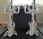 VICTORIAN SITZENDORF CHERUBIM CANDELABRA early 20th century GERMAN PORCELAIN