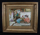 GORGEOUS LARGE BERLIN PORCELAIN PLAQUE SIGNED