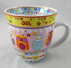 Lg. 20 Oz. Coffee Mug Very Cute Hoot Owls with Hearts by Creative Tops Ltd. NEW