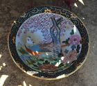 19TH CENTURY SATSUMA BOWL Hand Painted Japan China Birds Flowers By HFP MACAU