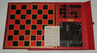 Antique SELCHOW & RIGHTER Co. DOMINOS & CHECKERS Game Board New York Bakelite