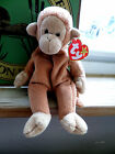 Retired Ty Beanie Baby Bongo Monkey Pellet Filled from 1995 Has hang tag intact