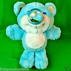 Vintage 1987 Playskool Nosy Bears Planet Saturn Stars Blue White Plush Stuffed