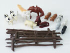16 Mixed Vintage Celluloid Plastic Cow/Horse/Sheep/Pig/Fence BB/Japan Toys lnl