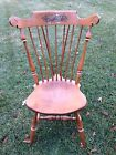 Vintage Ethan Allen Look-Alike Maple Stenciled Chair
