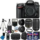 Nikon D7200 Digital SLR Camera +4 Lens 18 55mm VR 70 300 +24GB Best Value Bundle