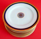 Fitz and Floyd Fine Porcelain Williamsburg Accent Salad Plate Set Of 12 RARE
