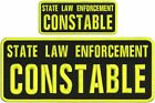 state law enforcement constable embroidery Patches 4x10 and 2x5 Velcro ON BACK