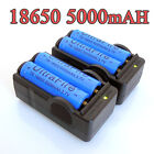 NEWEST 4PC UltraFire 5000mAh BRC 3.7v 18650 Rechargeable Li-ion Battery+ Charger