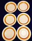 6 Vintage Syracuse China Restaurant Ware Saucer for Soup Bowl Cup Ramekin Brown