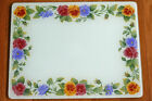 Corelle by Corning Summer Blush Tempered Glass Cutting Board Pansy Pansies