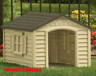 New Pet Kennel Suncast All Resin Weather Extra Large XL Outdoor Pet Dog House