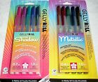 Sakura GELLY ROLL Color Craft Pens LOT OF 2 - Metallic & Gold Shadow