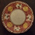 Vietri Solimene Campagna Red Mucca Cow Bull Salad Plate RARE