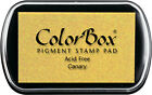 Colorbox pigment stamp pad Canary