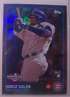 2015 Topps Toys R Us Opening Day Purple Jorge Soler Cubs Rookie MINT