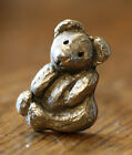 25 Vintage Teddy Bear Cabinet Drawer Pull Antique Silver Rustic Metal Toy Child