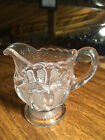 Vintage 1900's Early American Pattern Glass Texas Creamer