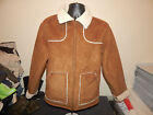 Old Navy Brown Faux Suede Fur Coat Jacket S Fully Lined Faux Fur POLYESTER