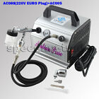 220V EURO Plug OPHIR Air Compressor Dual Action 03mm Airbrush Kit for Body Art