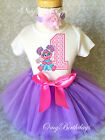 Abby Cadabby Pink Lavender baby Girl 1st First Birthday Tutu Outfit Shirt Set