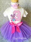 Abby Cadabby Pink Lavender Girl 3rd Third Birthday Tutu Outfit Set Shirt Party