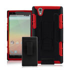 Hybrid Rugged Pro With Kickstand Holster Combo Case for ZTE ZMax Z970