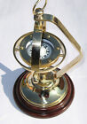 Antique Brass Nautical Ship's Gimballed Vintage Compass Reproduction  Decor