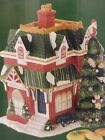 SPODE CERAMIC CHRISTMAS TREE VILLAGE COLLECTION TRAIN STATION COOKIE JAR