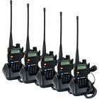 5pcs Walkie Talkie Zastone ZT-V8A+ 5W 128CH UHF+VHF Monitor VOX Two-Way Radio