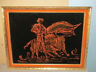 Vintage Mexican Black Velvet Painting MATADOR Bull Fighter in original frame