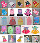 18 Types Summer Various Pet Puppy Small Dog Cat Clothes Cute Skirt Dress XS- XL