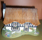 Vintage Thatched Cottage Reuge Music Box Wood Pauline Ralph Original