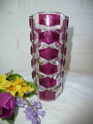 Beautiful French Vintage Durand Clear & Ruby Coloured Crystal Glass Vase In Vgc