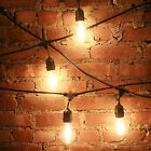 Outdoor String Lights Wire Hanging Patio Bulbs Vintage Backyard Dinner Party new