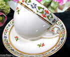 MAADDOX & SONS OLDER TEA CUP AND SAUCER DEMI 1890'S TEACUP FLORAL