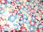 New 2 Yards Happy Daisy Floral Daisy Kingdom Blue Green Yellow Pink SEWING