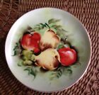 Lefton Vintage Hand Painted Hanging Wall Plate Pears, Apples & Grapes Excel Cond