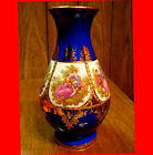 STW BAVARIA GERMANY 1930s Courting Couple Vase Cobalt Blue & 24K Gold