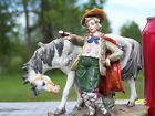 SITZENDORF ALFRED VOIGT SITZENDORF THURINGIA GERMANY BOY WITH HORSE FIGURINE