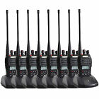 8PCS Walkie Talkie Baofeng UVB5 99CH 5W UHF+VHF 2000mAh Monitor Two-way Radio