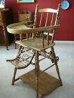 100 Year Old French Made High Chair--Play Station