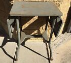 STEAMPUNK Industrial Chic Vintage Metal Folding Typing Table
