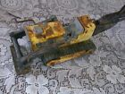 Vintage Dirty Old Rusty TONKA Yellow Truck Backhoe Loader Bulldozer Construction