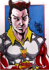 RARE MARVEL GREATEST HEROES AVENGERS TRADING CARDS STAR FOX SKETCH CARD !!