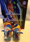 WESTLAND ARTIST COW THERAPY RETIRED 10 2013 CERAMIC SALT  PEPPER SHAKERS